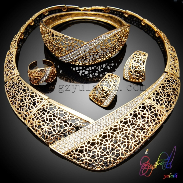 SHIPPING FREE african gold plating jewelry set wholesale African
