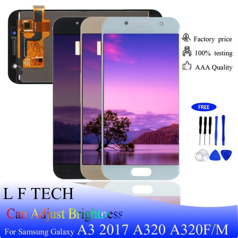Écran LCD pour Samsung Galaxy A3 2017 A320 A320M A320F et remplacement de l'assemblage du numériseur à écran tactile