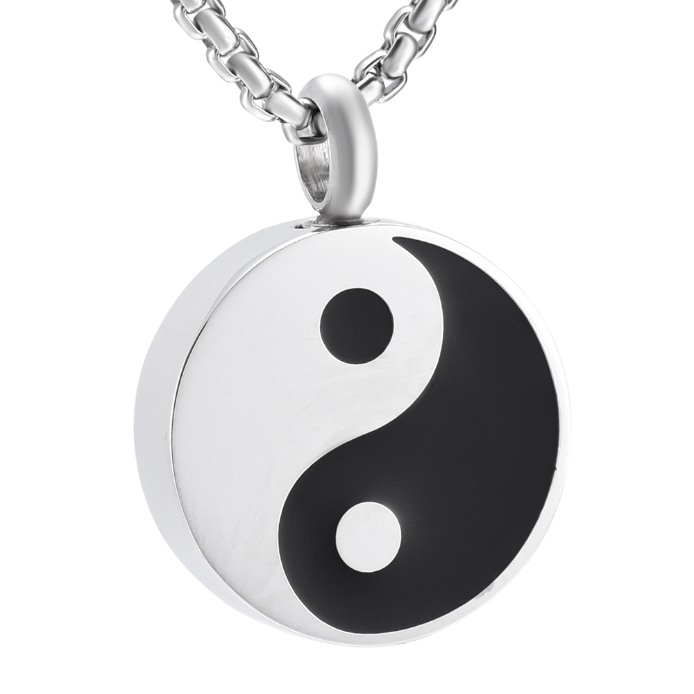 Yin And Yang 1 PP-G66  Brooch drop hoop Holder For Glasses Pen ID jewellery pewter