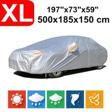 цена на 500*185*150 Universal Saloon Sedan 190T Waterproof Car Covers Dust Rain Snow UV Protection For BMW 3 5 Benz E class Honda Accord