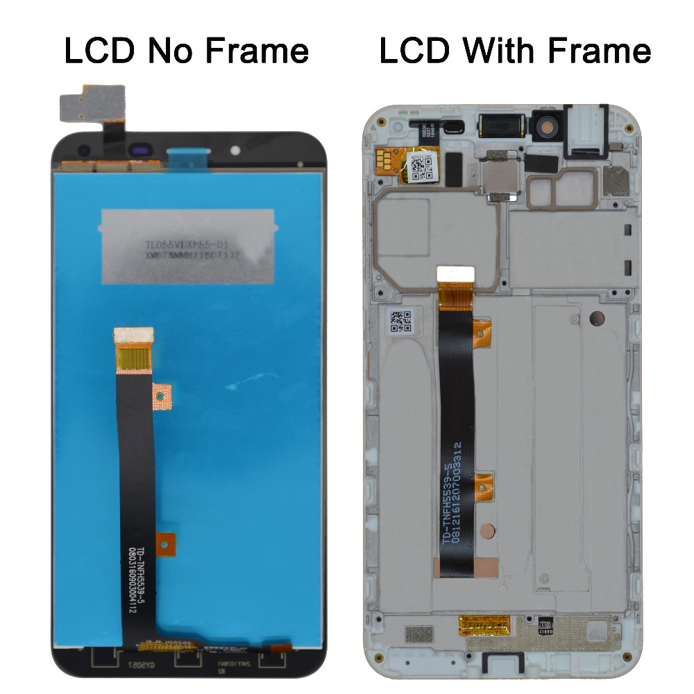 oPesea 5.5'' For Asus Zenfone 3 Max <font><b>ZC553KL</b></font> LCD <font><b>Display</b></font> Panel Touch Screen Digitizer Glass Sensor Assembly With Frame image