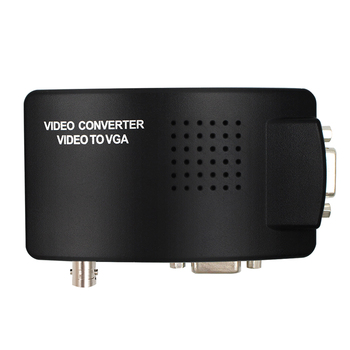 BNC to VGA Converter S-video Video Converter Adapter for PC/Projector/Monitor with dc cable free shipping hd 8 tft lcd color monitor 1204 768 vga bnc video audio for pc cctv cam vcd dvd