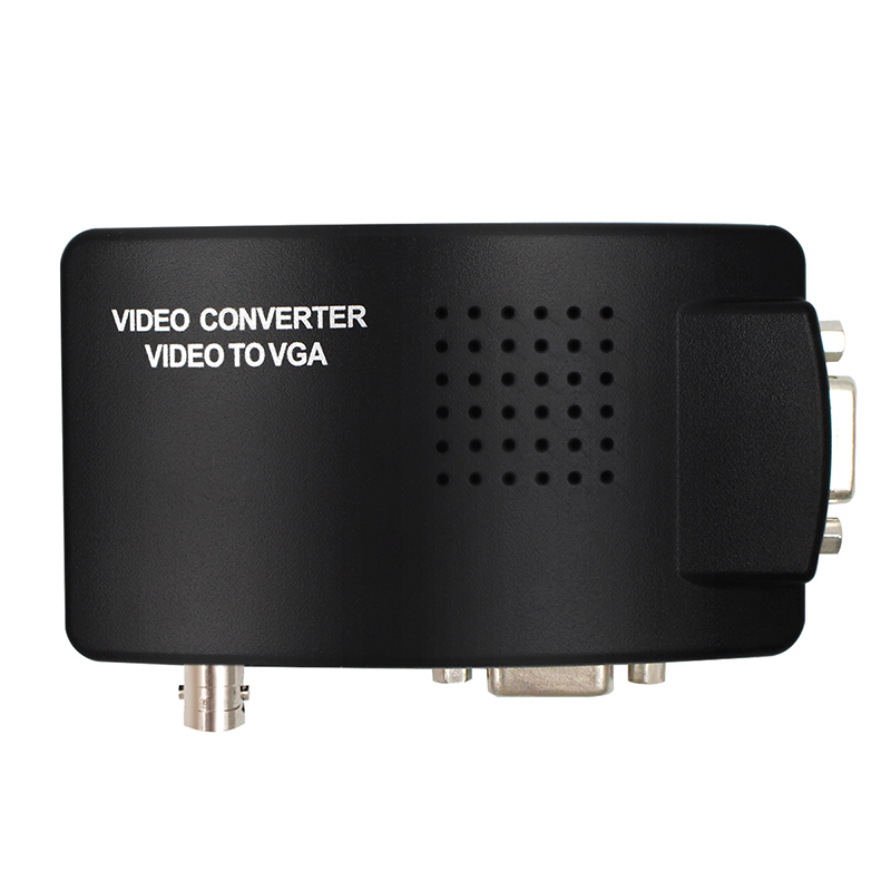 Конвертер VGA BNC SVIDEO в VGA, адаптер Выход VGA, конвертер BNC в VGA, композитный цифровой переключатель, коробка с кабелем постоянного тока