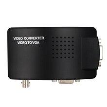 VGA BNC SVIDEO vers VGA convertisseur vidéo VGA sortie adaptateur BNC vers VGA convertisseur Composite boîtier de commutation numérique avec câble cc