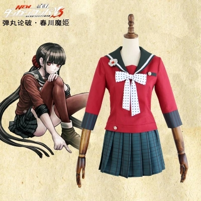 Custom Made New Danganronpa V3 Cosplay Harukawa Maki Cosplay Costume Japanese Game Uniform Suit Outfit Clothes Full Set