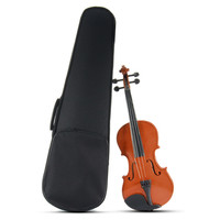 Zebra 4 4 Violin Natural Acoustic Basswood Face Board Violin For Musical Stringed Instruments With Case