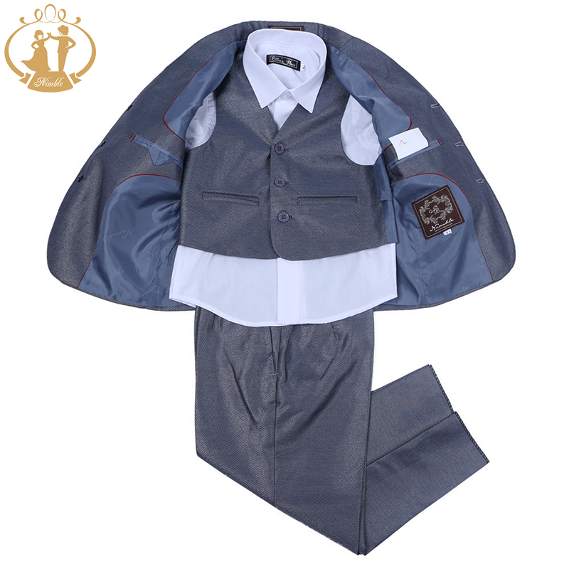 Nimble Grey Fashion Suit for Boy Roupas Infantis Menino Children Wear Jogging Garcon Blazers for Boys Terno Menino Boys Outwear