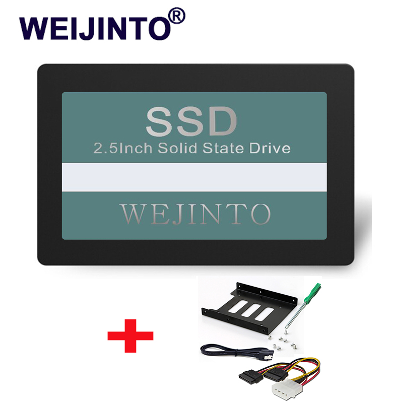 WEIJINTO SSD SATA3 2.5 inch 240GB Hard Drive Disk HD HDD& 2.5 SSD To 3.5 Metal Mounting Adapter For Desktop 2 5 3 5 inch plastics hard disk drive mounting bracket adapter for notebook pc ssd holder qjy99