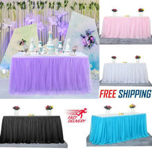 5 Colors Tutu Skirt tulle Tableware Wedding Birthday Party Table Cloth Favordd 2019 New