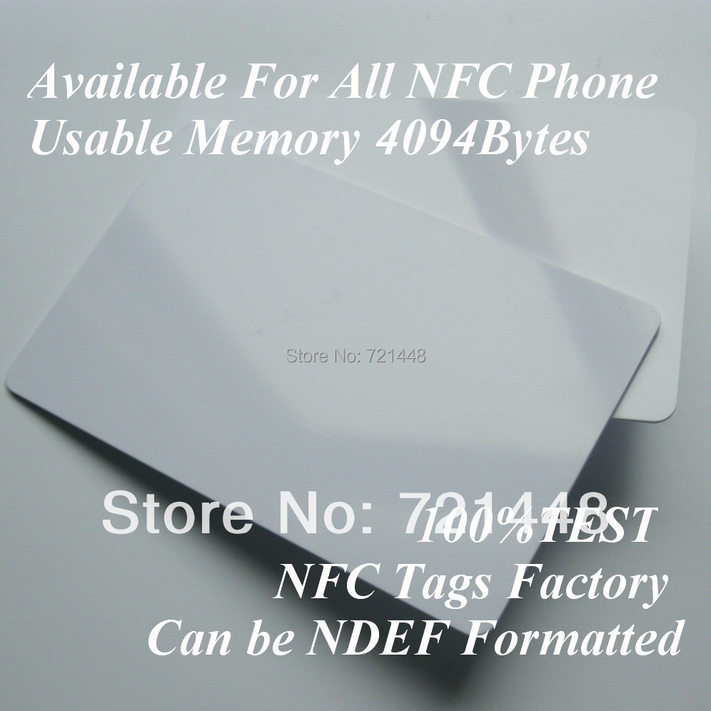 100pcs NFC Forum Type 4 tag NFC tag for All NFC Mobile phone Usable Memory 4094 Bytes NFC card