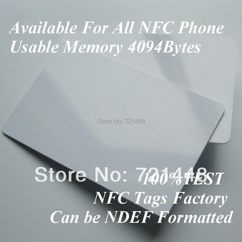 100 unids nfc forum tipo 4 etiqueta nfc etiqueta para todos los tel fonos m viles nfc tarjeta