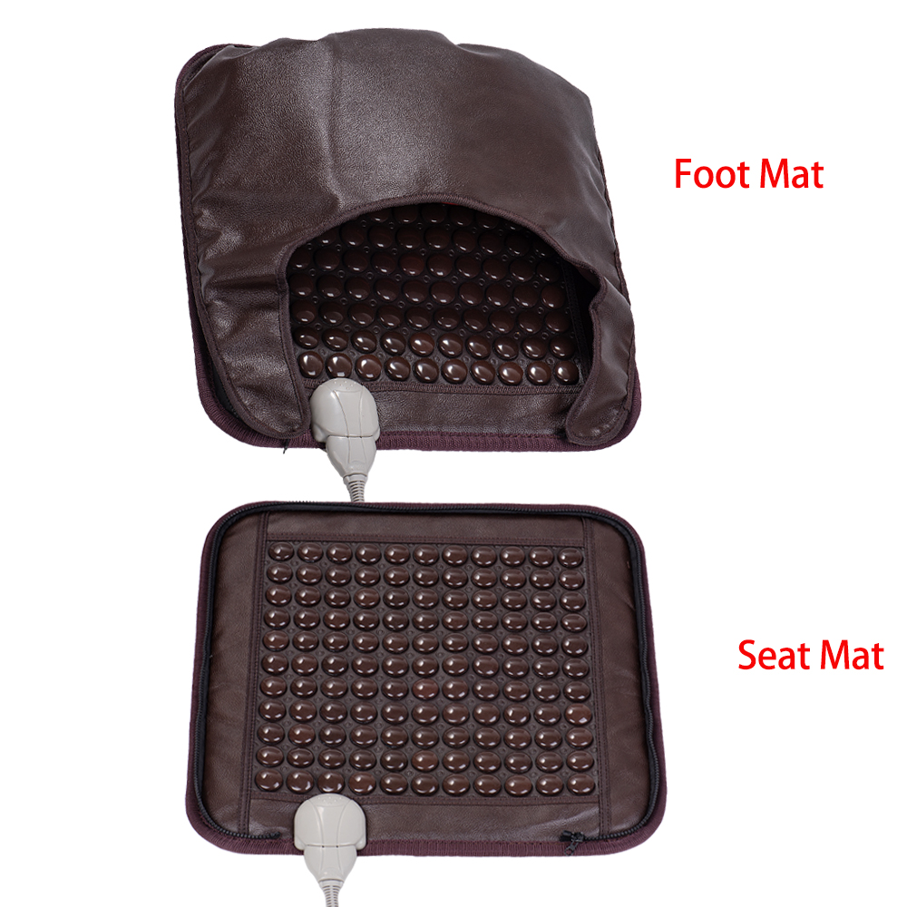 BYRIVER Natural Tourmaline Stone Heating Warm Pad Seat/Foot Mat Physiotherapy Therapy Heating Body Massager
