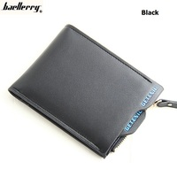 Baellerry Men S Short PU Leather Driving Licence Holder Classic Male Purse Large Capaciry Multifunctional Small