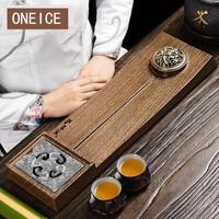 Маленький чайный поднос один человек с твердой древесиной морской стол цельные куриные крылья кунг фу набор Inc Китайский кунг фу бамбуковые