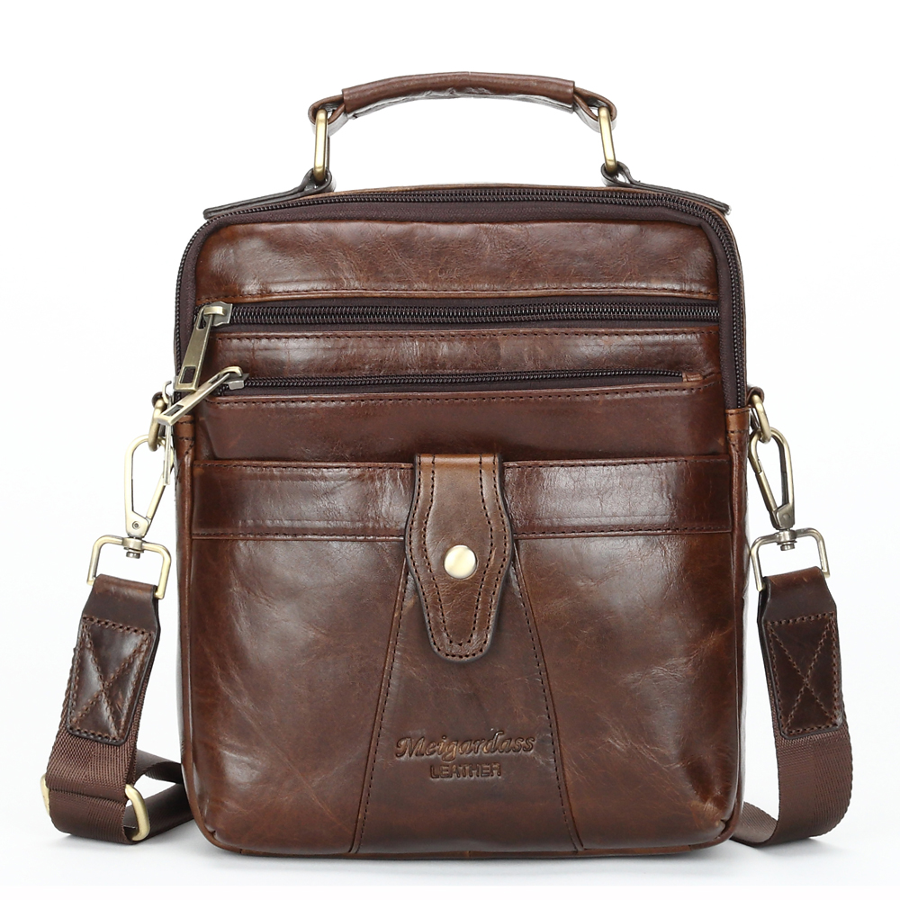 #311-L Business Men Genuine Leather Bag Natural Cowskin Men Messenger Bags Casual Men's Cowhide HandBag Shoulder Bags