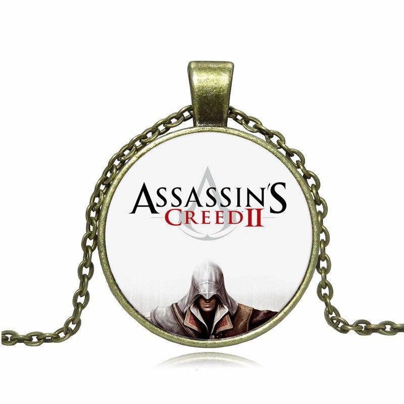Заявление Ожерелье Игра Альтаир Эцио Коннор Assassins Creed Десмонд Старинные Цепи Кулон Ювелирные Изделия Колье Ожерелье Женщины Мужчины 2016