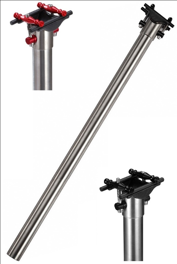 Ultra light Titanium/Ti 31.8mm*520mm/550mm/600mm Seatpost for Brompton folding bike-295g sema titanium alloy brompton seat post diameter 31 8mm cnc seatpost for brompton folding bike 31 8mm 580mm super light