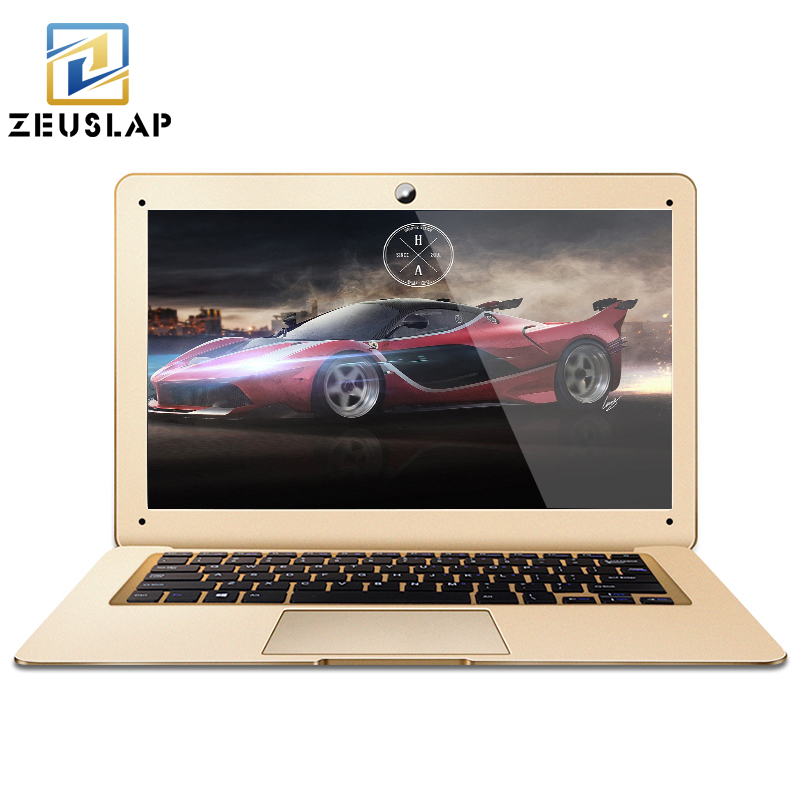 ZEUSLAP A8 14inch 8GB RAM+500GB HDD Windows 10 System Intel Quad Cores 1920*1080P Full HD Laptop Notebook Computer