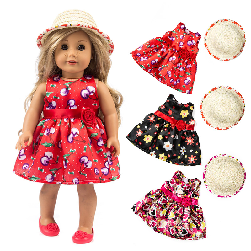 Happy Elfin New 18 inch Baby Born 45cm American Girl Doll Clothes Flower Skirt For Girl Best Birthday Doll Accessories Gift new 2016 hot blue umbrella for the american girl doll clothes accessories of 18 inches give children the best gift