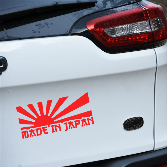 Made in japan design car stickers and decalscar bumper tail decor die cutting vinyl