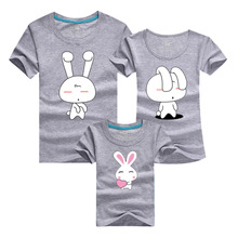 Mother Kids 2016 Cartoon Pair T Shirt Cotton Casual Sport Men T-shirt Homme Skate Tshirt Polera Family Matching Outfits Clothes