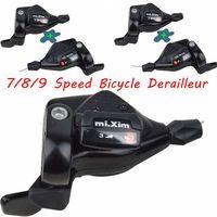 1 pair Bike 7 speed shifter 8/24 Speed Bicycle Derailleur Shift Lever 9/27 speed Mountain Bike Front Derailler
