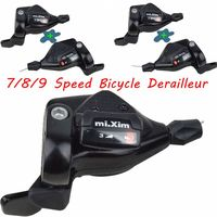 1 pair Bike 7 speed shifter 8/24 Speed Bicycle Derailleur Shift Lever 9/27 speed Mountain Bike Front Derailler