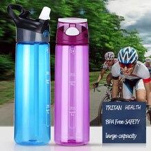700 ML TRITAN GROßE Kapazität PP Wasserflasche Straw Handliche Raum BPA Freie Einfache Tee Tasse Tragbare Wasser Reise Flasche verkauf