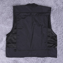 Mens Women Fish Jacket Sleeveless Vest Garment Pocket Storage Fishing Photography Mesh Men Vests Waistcoat Protect Spring Summer