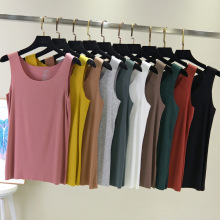 Spring and summer new style thin cotton vest Casual loose large size solid color women Cotton