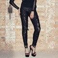 Devil New Women's Pants 2016 Full Long Length Black High Trousers 4XL Vintage Style Pants Pantalones Mujer Plue Size PT002