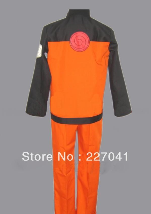 Naruto Shippuden Uzumaki Naruto Cosplay Costume Free Shipping