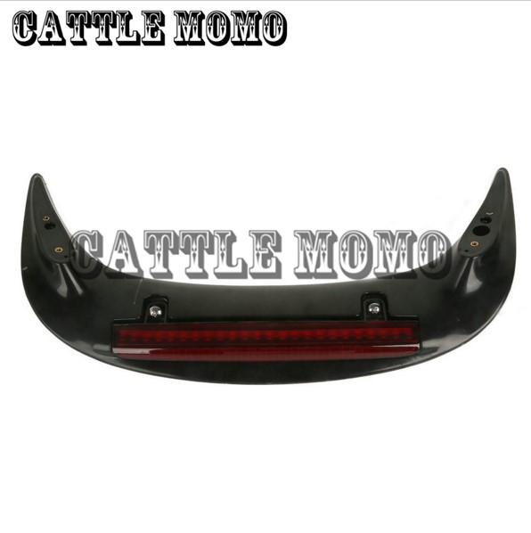 Motorcycle Fender with light For Honda GL1800 GOLDWING 2001-2006 2007 2008 2009 2010 2011 Rear Trunk Spoiler with LED Somke Lens накладки на пороги honda cr v ii 2001 2007 carbon