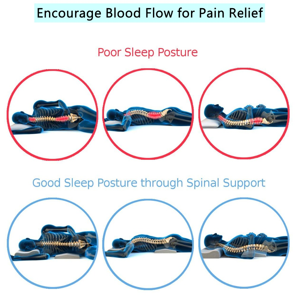 Lumbar Pillow For Sleeping Spinal Support Cushion Lower Back Pain