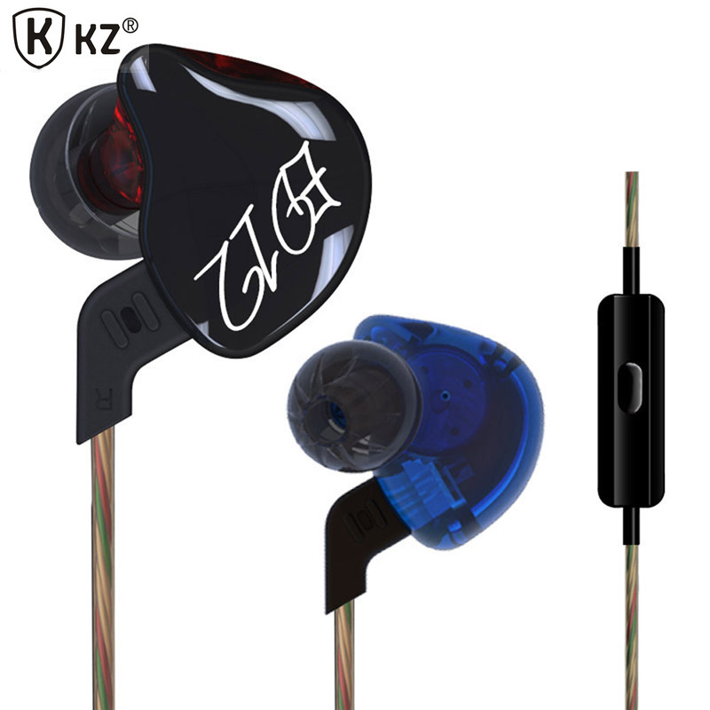 Original KZ ED12 Custom Style Earphone Detachable Cable In Ear Audio Monitors Noise Isolating HiFi Music Sport Earbuds With Mic ed 26821 000 buzzers audio products mr li