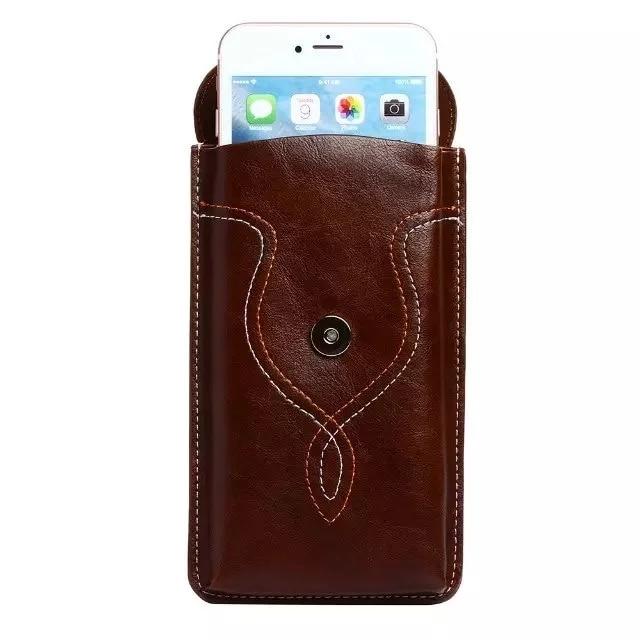 Ունիվերսալ կաշվե իրանի գոտիով - Բջջային հեռախոսի պարագաներ և պահեստամասեր - Լուսանկար 5