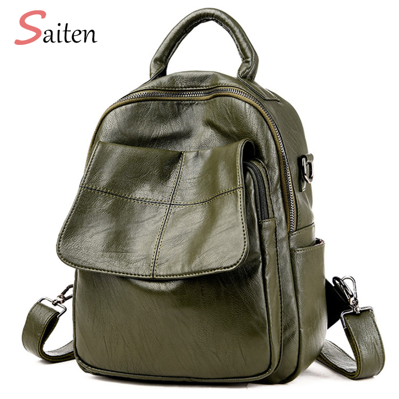 Women Bag Famous Brand Leather Bags Women Backpack Preppy Style Fashion School Bag For Teenage Girls Travel bags bolsa mochila famous brand laifu design women lightweight nylon bag teenage girls school backpack preppy style shopping travel black coffee page 9 page 7 page 1