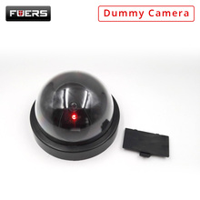 Fuers Fake Camera Home Security with Red LED Flash Simulated Camera Indoor Surveillance CCTV Black Camera Mini Dummy Dome Camera defeway home security fake camera simulated video surveillance indoor outdoor surveillance dummy ir led fake dome camera new
