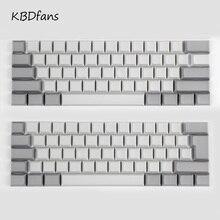 White Black Gray Orange Green Yellow Blank Thick PBT dsa Profile 62 Key ISO 61 ANSI Keycaps For MX Switches Mechanical Keyboard