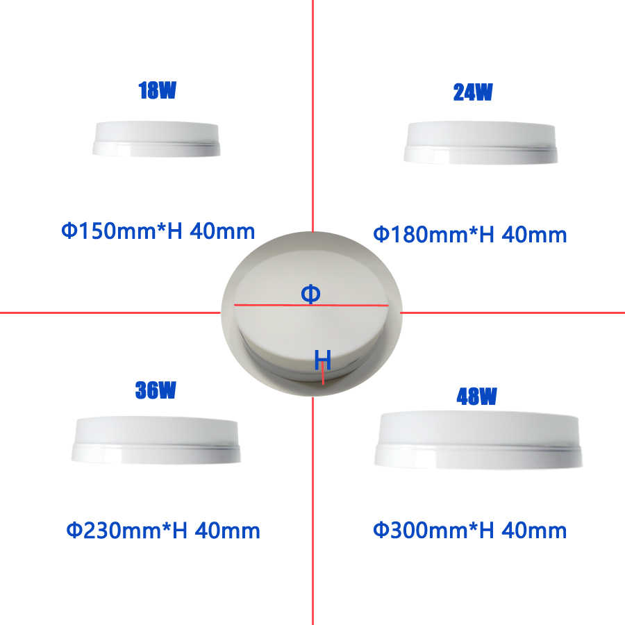 Ceiling LED Lights surface mounted 18W24W 36W 48W square/round ceiling lamp applies to kitchen living room bedroom aisle etc