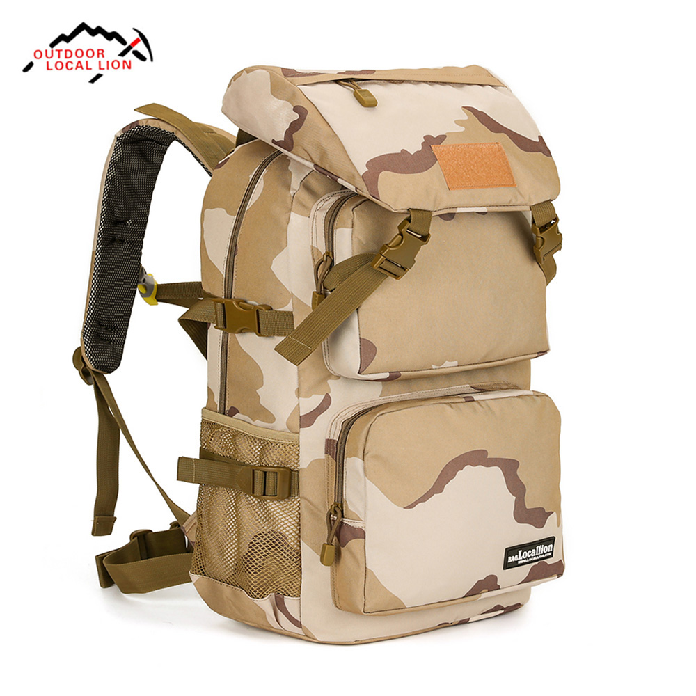 LOCAL LION 555 45L Water Resistant Camouflage Climbing Hiking Backpack цена
