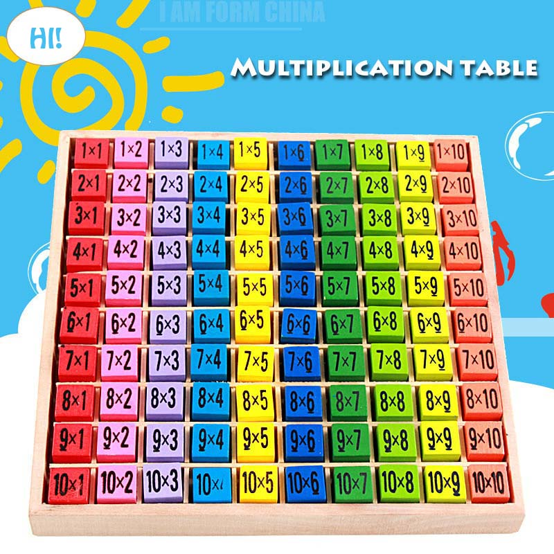 Baby wooden math Toys 99 Multiplication Table Math Toy 10