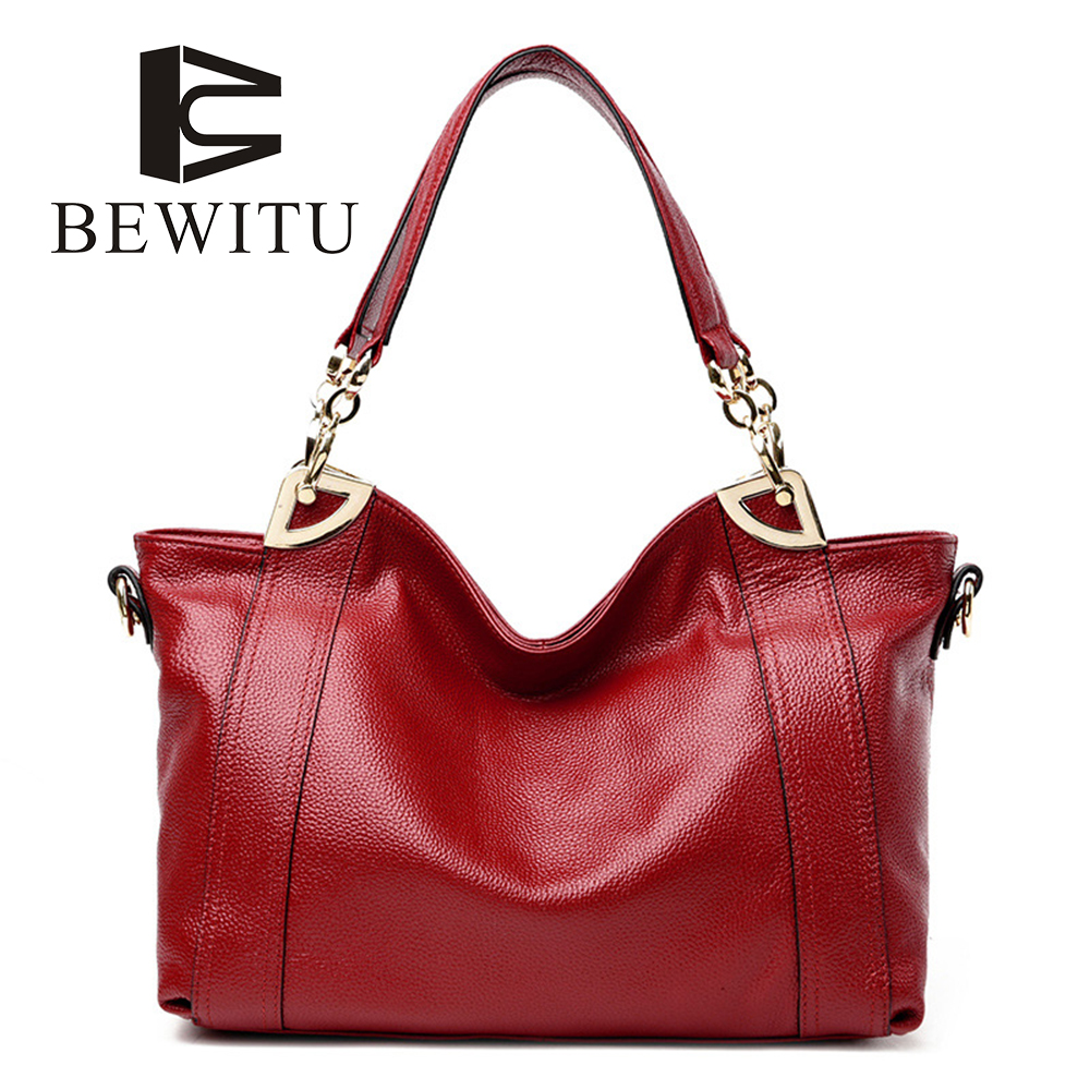 BEWITU New Handbag Europe And The United States Fashion Leather Handbags First Layer Of Bag Ladies Shoulder Messenger Bag aetoo new europe and the united states retro leather handbag shoulder bag head cowhide female messenger bag ipad package