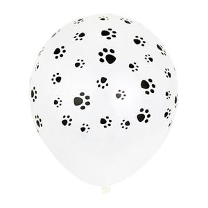 10pcs 12inch Unicorn Party Black Balloons Animal Dog Paw Latex Balloons Helium Balls Birthday Party Decoration Kids Theme globes