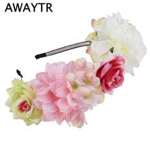 US $1.89 5% OFF|AWAYTR New Floral Headband Festival Hairband Girls Hair Ornaments Women Wedding Hair Accessories Flowers Bride Party Crown-in Women's Hair Accessories from Apparel Accessories on Aliexpress.com | Alibaba Group