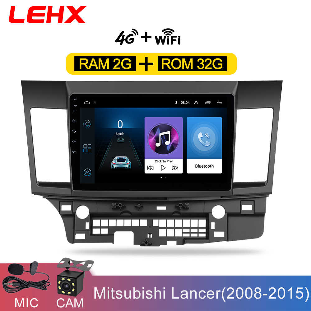Mobil Android 8.1 Mobil DVD Multimedia untuk Mitsubishi Lancer 10.1 Inch 2 DIN Gps Navigasi Radio Video Audio Player