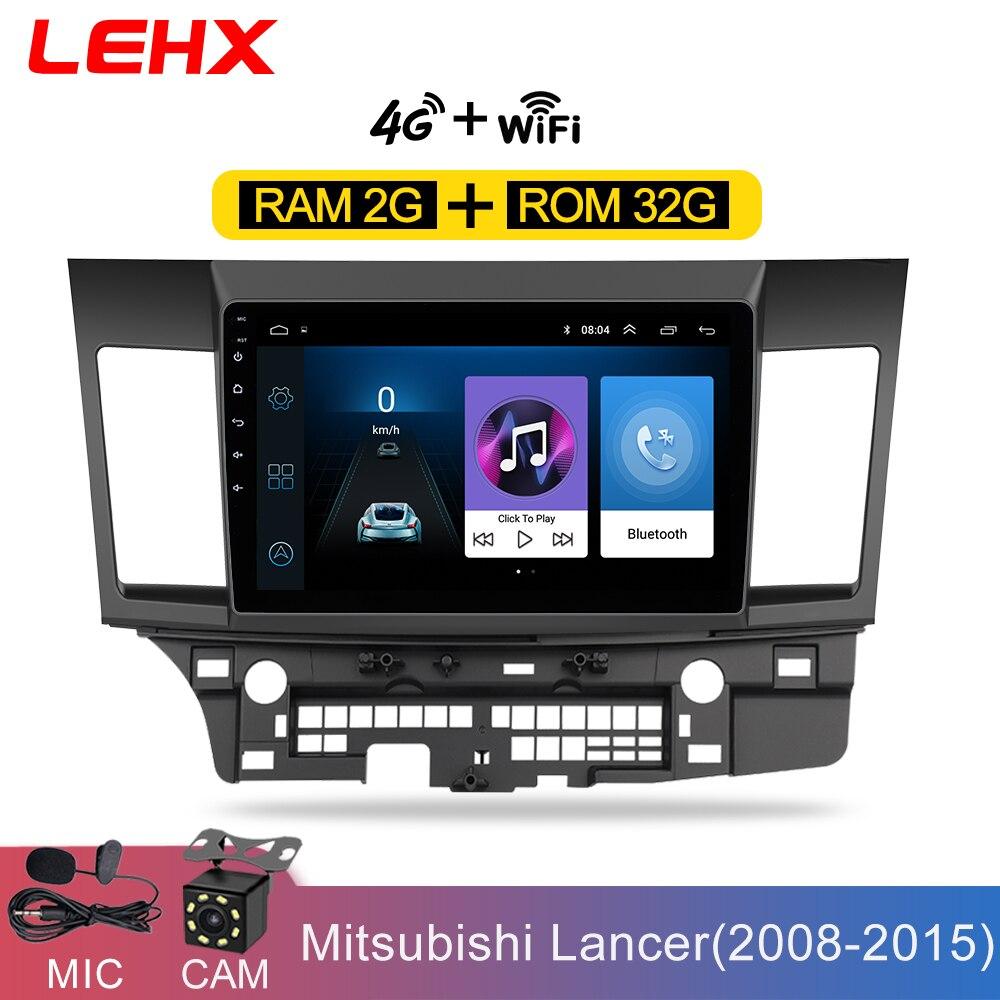 Android carro 8.1 DIN Multimídia Carro dvd para MITSUBISHI LANCER 10.1 polegada 2 rádio de navegação Gps áudio e vídeo player