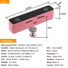 SVPRO Cute Pink 3D video recording dual lens external camera for android mobile phone with free download APP