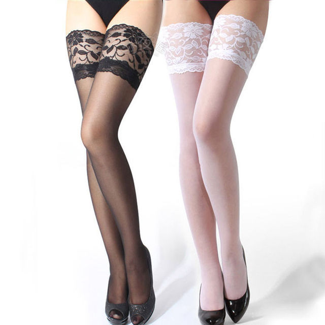 0c28da4c4e351 Sexy Women Ladies Lace Mesh Patchwork Lingerie Thin Stocking Garter Belt  Fishnet Thigh High Tights Body Stockings Hosiery