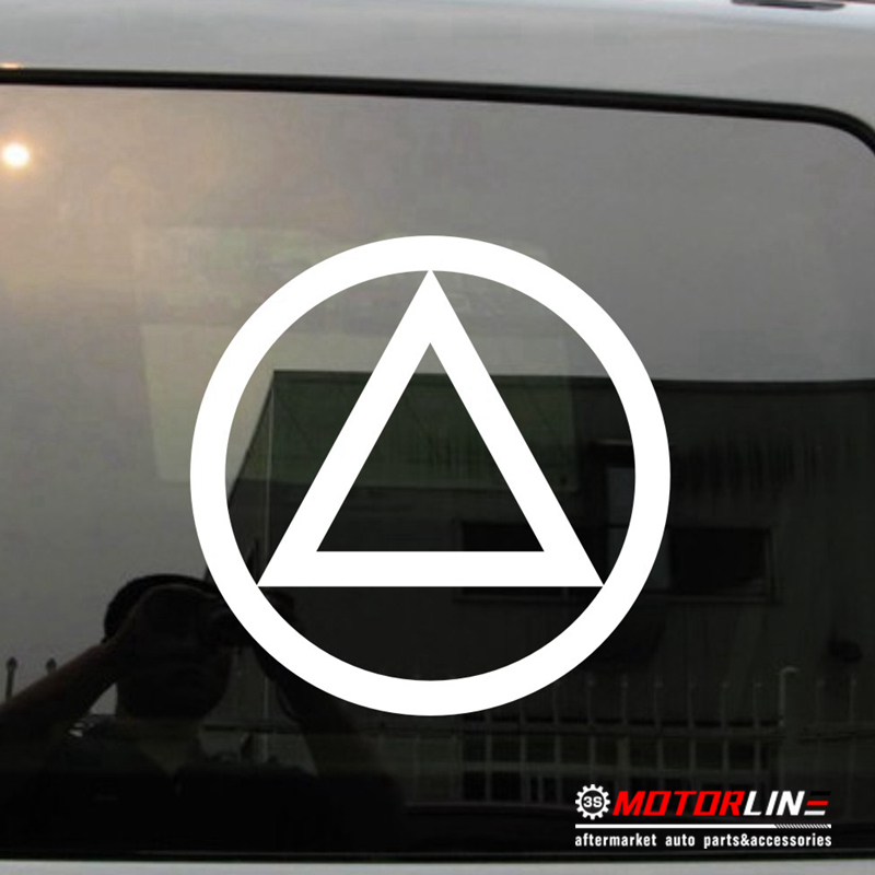 Alcoholics Anonymous AA Symbol Decal Sticker Car Vinyl pick color size